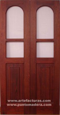 Artefacturas puertas en madera solida for Puertas de madera para cocina con vidrio
