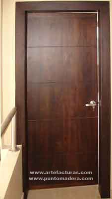 Puertas principales quotes for Fotos de puertas principales de madera modernas