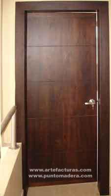 Artefacturas puertas de madera en guayaquil for Puertas modernas para dormitorios