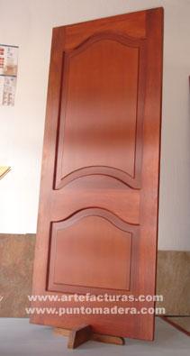 Artefacturas puertas en madera solida for Modelos de puertas de madera para dormitorios
