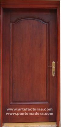 Artefacturas puertas en madera solida for Modelos de puertas principales